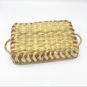 Vintage Accents - Woven Basket Tray  • Made in the Philippines
